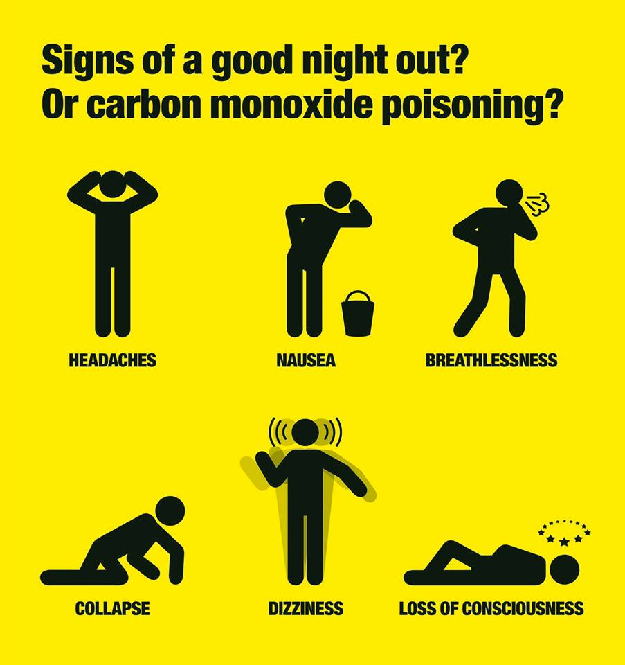 ASL Plumbing & Heating carbon monoxide poster warning